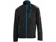 Soft Shell Jacke twenty-four Black/Turquoise
