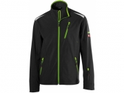 Soft Shell Jacke twenty-four Black/Lime Green