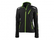 Damen Soft Shell Jacke twenty-four Black/Lime Green