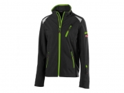 Kinder Soft Shell Jacke twenty-four Black/Lime Green
