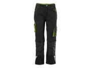 Kinder-Arbeitshose twenty-four Black/Lime Green