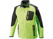 Strick-Soft Shell Jacke Lime Green/Black