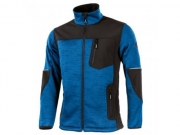 Strick-Soft Shell Jacke Blue/Black